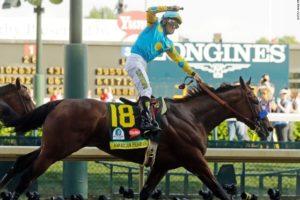 American Pharoah wins the Kentucky Derby