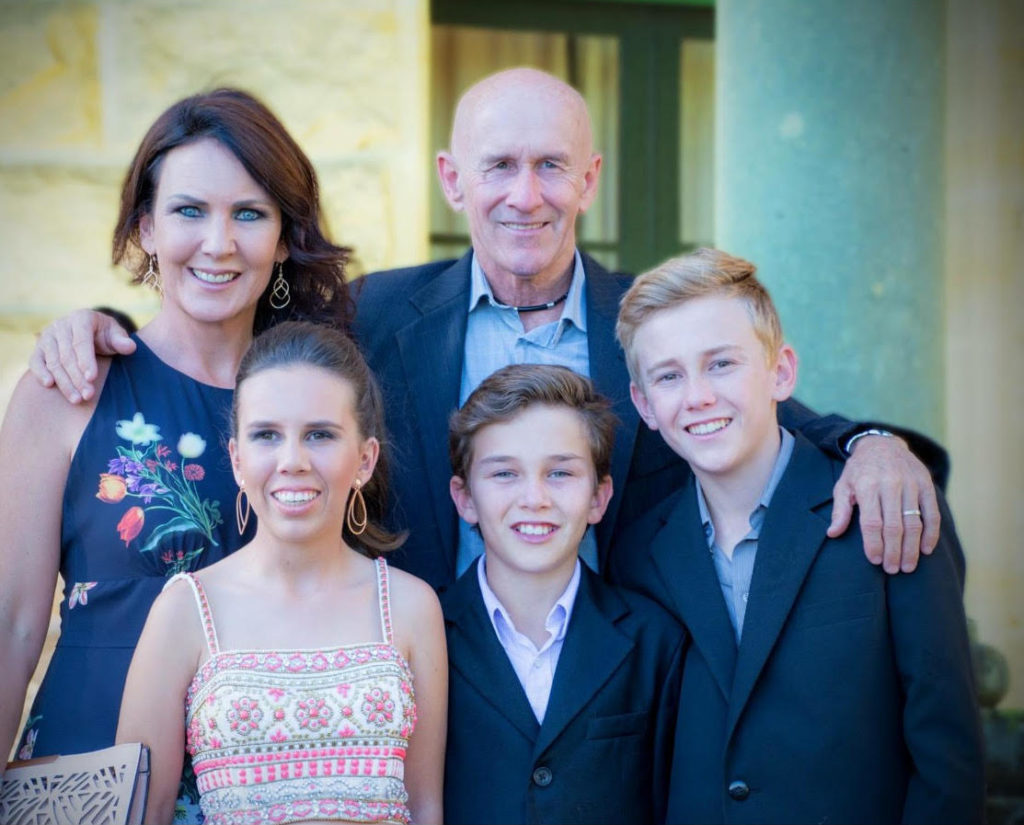 Family support: Jeff Lloyd with wife Nicola, daughter Tayah and sons Zac and Jaden (photo: supplied)
