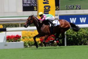 Callan Murray wins Gr3 Premier Plate on Horse Of Fortune (photo: HKJC)