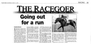 Racegoer, Richard McMillan, Barrier Trials