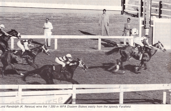 Lord Randolph wins the 1987 Diadem Stakes