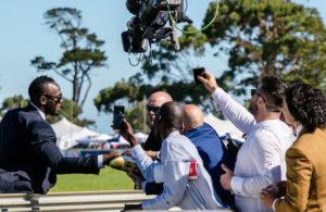 Usain Bolt greets the crowds (photo: hamishNIVENPhotography)