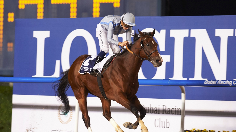 Heavy Metal wins DWCCarnival 2018 opening night feature race the Al Maktoum Challenge R1 (G2) (DRC/AW)