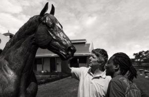Robin Rugare, John Koster, Robin Rugare, Captain Al sculpture (photo: Michael Story)