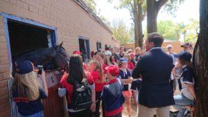 Justin Snaith takes the stable tour (photo: Mike Louw)
